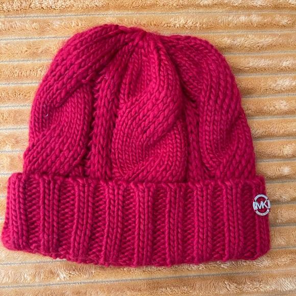Wool red Michael Kors winter hat